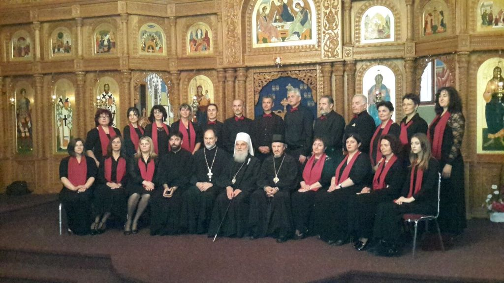 st ramon the melodist choir with patriarch irinej